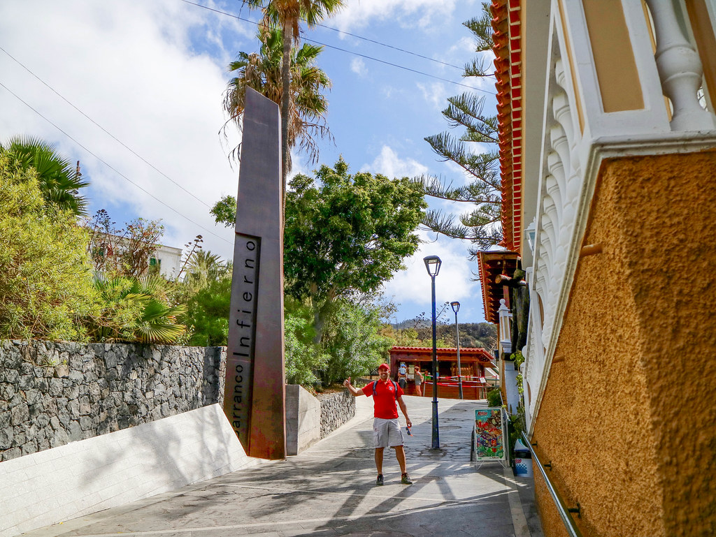 Entrada del Barranco del Infierno en Tenerife