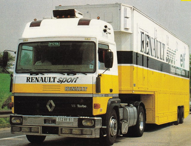 Postcard Renault R360-19T V8 Team Renault Sport Collection Camions-Magazine 1980b