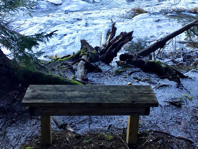 Seat Beside Frozen Sasanoa River