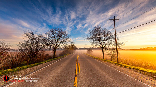 andrewslaterphotography clouds concrete country fog highway landscape lane road sunrise sussex waukesha hartland wisconsin unitedstatesofamerica farm field nature wiconsin discoverwisconsin travelwisconsin canon 5dmarkiii