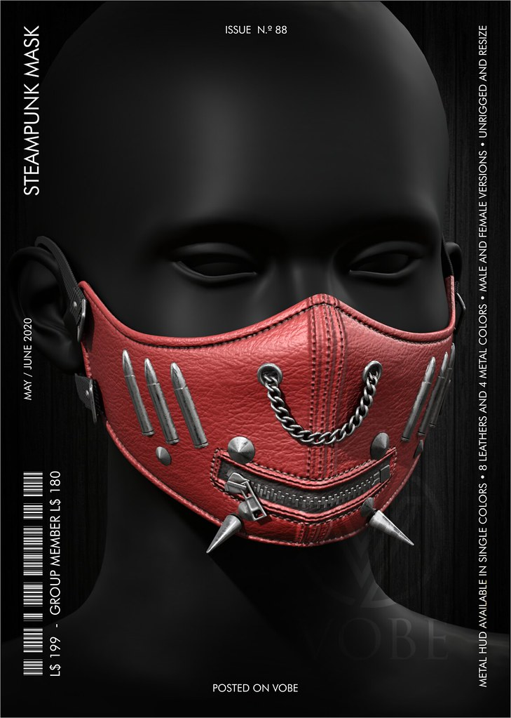 "VOBE for The M&W Jail Event – ""Steampunk"" Mask"