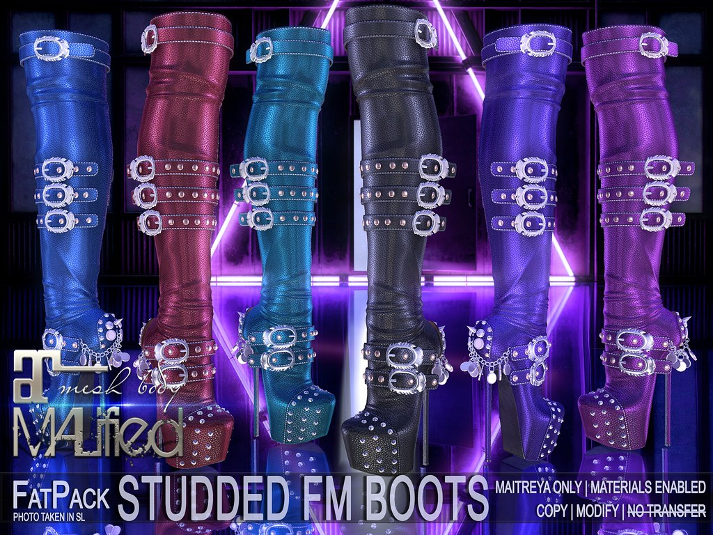 MALified – Studded FM Boots – FatPack