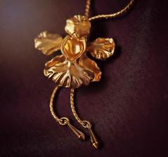Golden Orchid Pendant