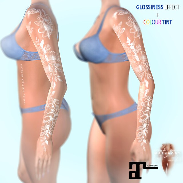 APOLLEMIS TATTOOS Shoulders & Chest Peonies [TINT / 3D SHINE]