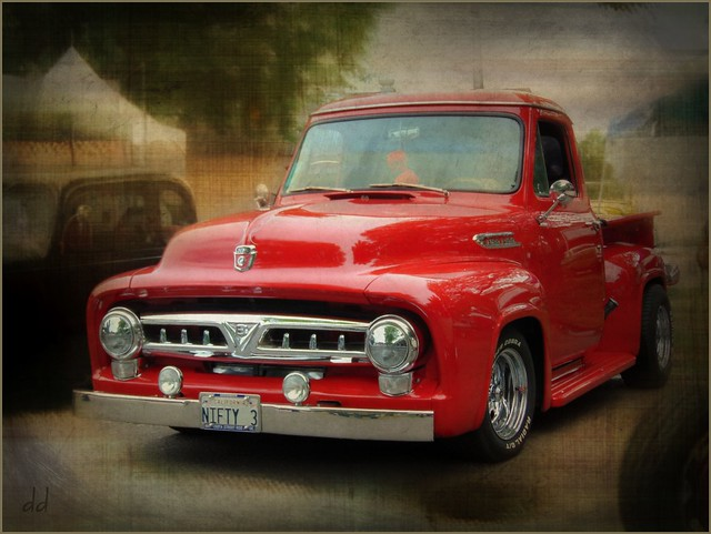 Red Ford Pickup