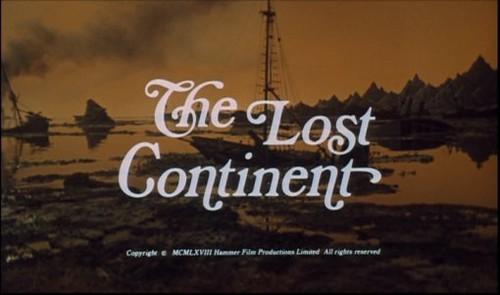 Ecran-titre du film Le Peuple des abîmes / The Continent (Michael Carreras, 1968)