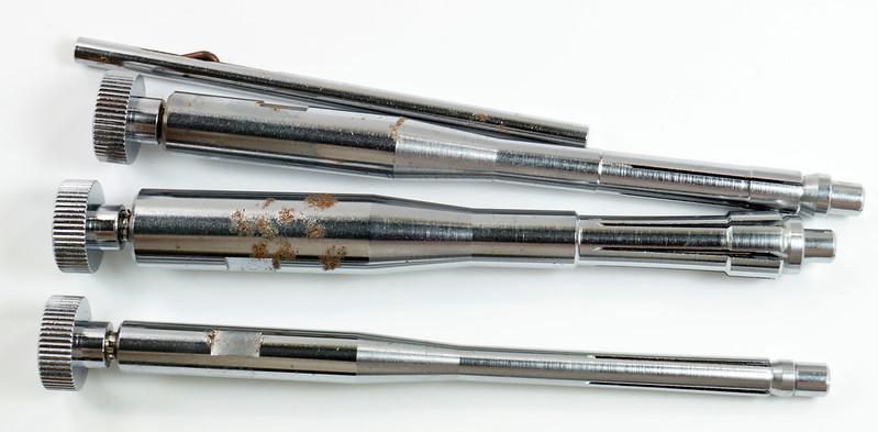 RD29308 Vintage Bushnell Bore Sighter with Arbors & Case Japan DSC04151