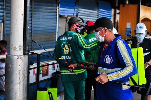 11.05.20. Ação de desinfecção de Feiras em Manaus