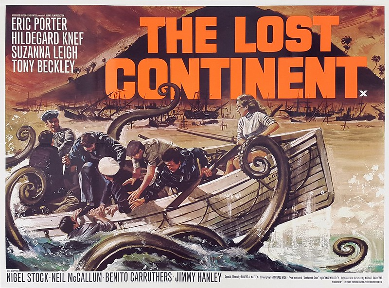 Poster UK Quad Crown du film Le Peuple des abîmes / The Lost Continent (Michael Carreras, 1968)