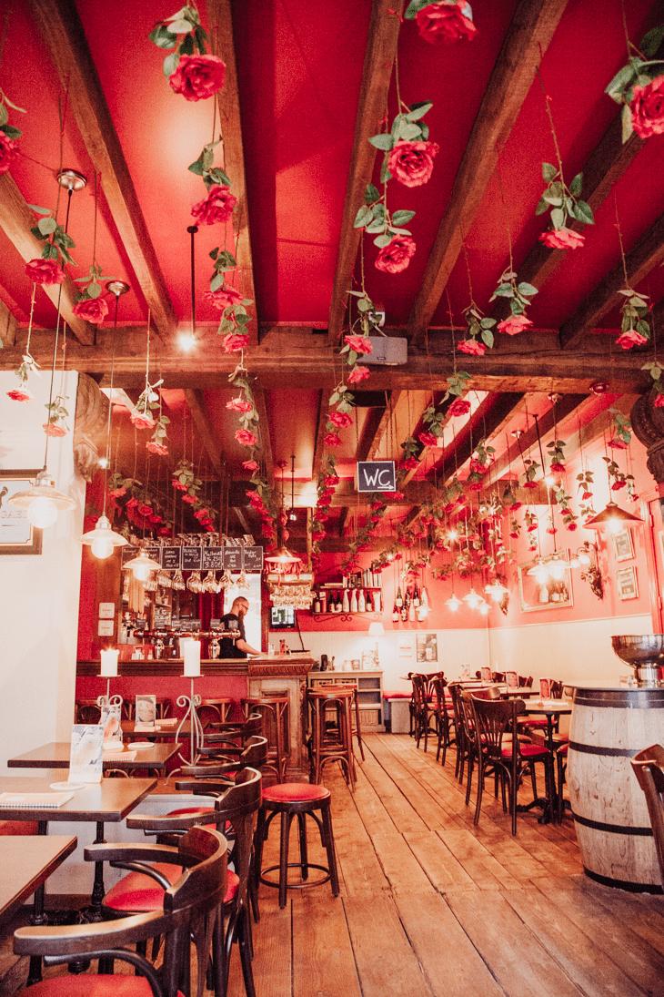 Cafe Rose Red Bruges Belgium