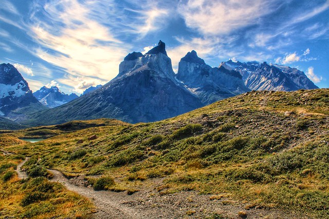 Torres del Paine National Park trail, Patagonia, Chile