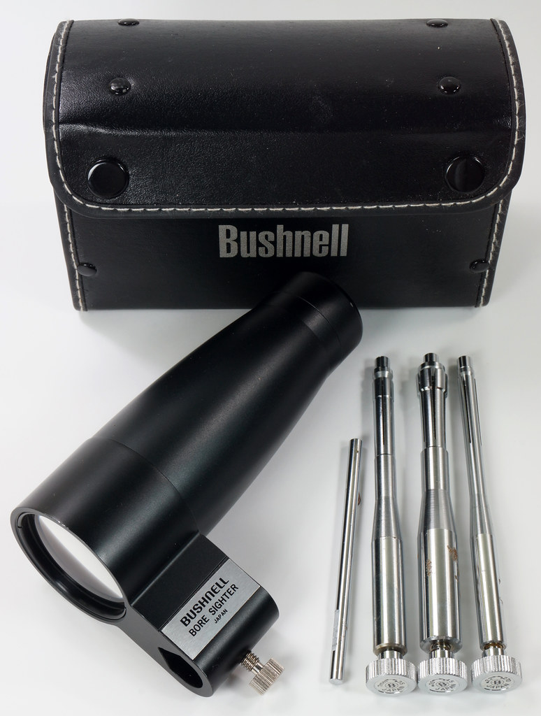 RD29308 Vintage Bushnell Bore Sighter with Arbors & Case Japan DSC04147