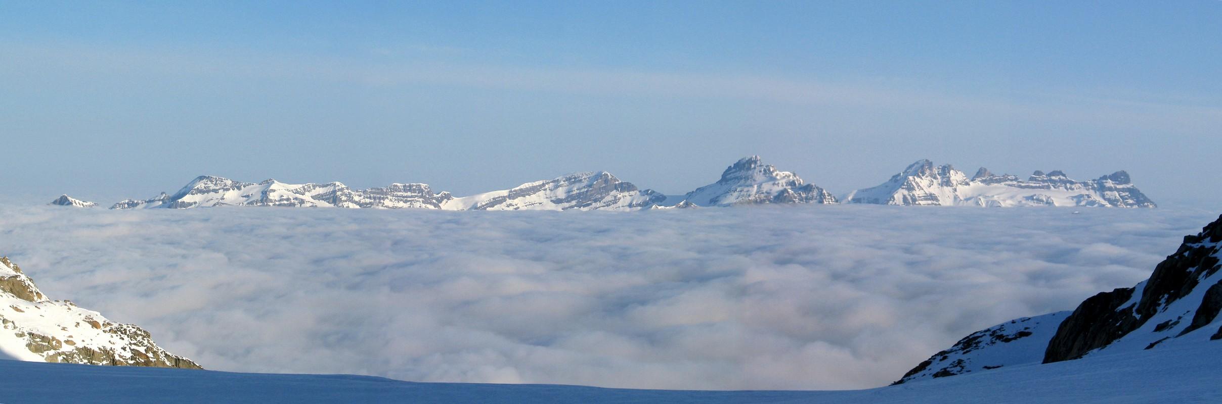 Cabane Trient Walliser Alpen / Alpes valaisannes Švýcarsko panorama 18