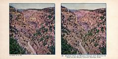 98 Airplane View of Manitou Canyon and Entrance to Cave of the Winds, Colorado Springs, Colorado