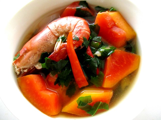 Sayur rebus, papaya & cangkok manis