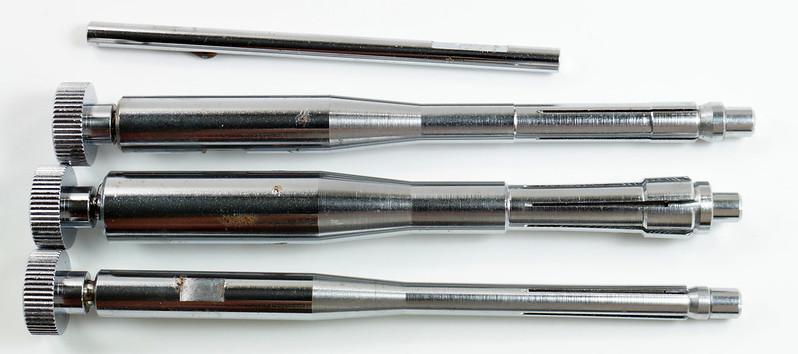 RD29308 Vintage Bushnell Bore Sighter with Arbors & Case Japan DSC04152