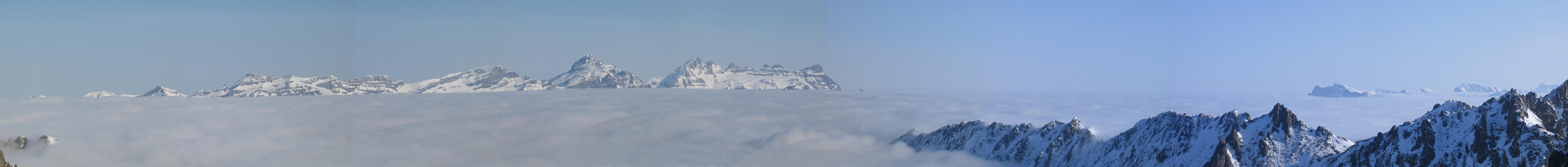 Cabane Trient Walliser Alpen / Alpes valaisannes Schweiz panorama 17