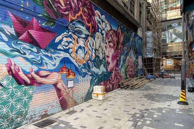 Hong Kong Alley Art - Woman