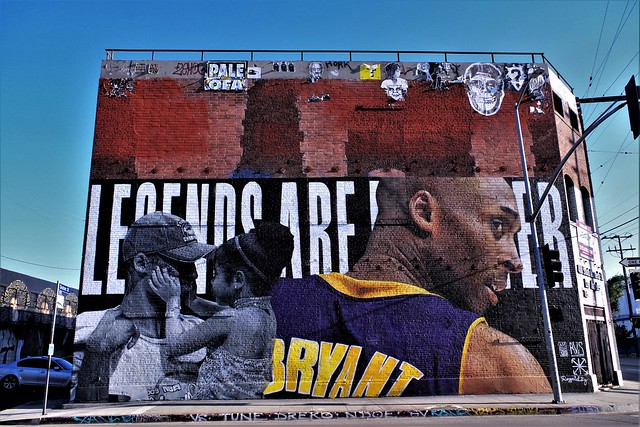 Kobe Tribute Mural - DTLA  In Explore 5/12/2020