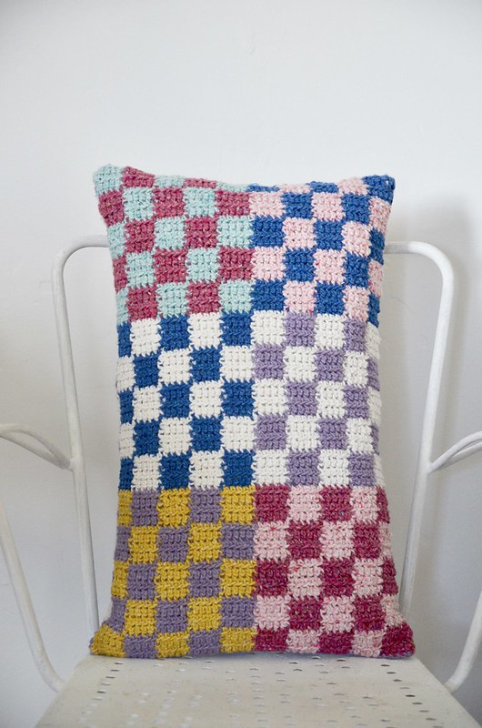 checkered cushion