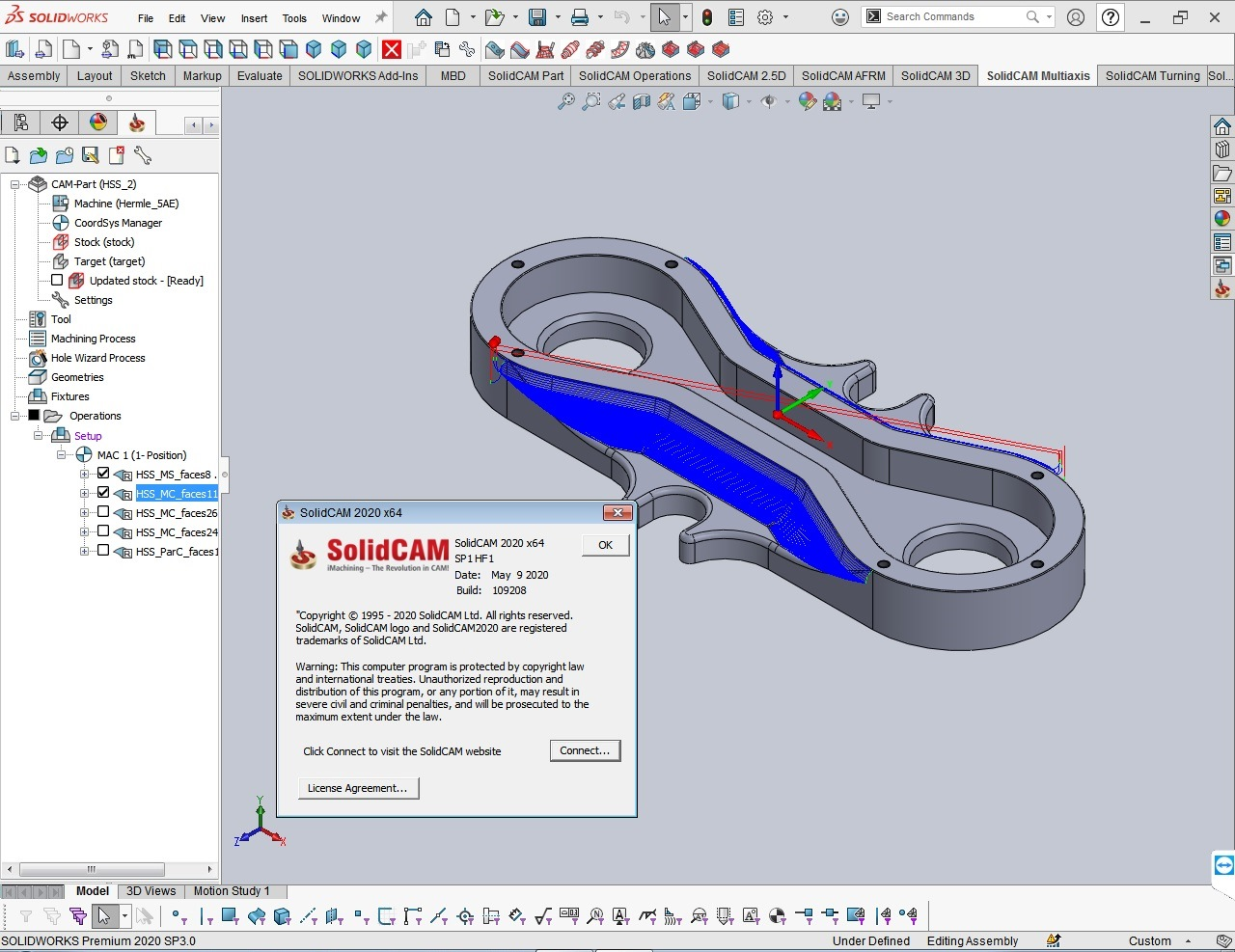 Working with SolidCAM 2020 SP1 HF1 for SolidWorks 2012-2020 full license