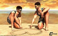 Beach Heart - Couple Bento Pose