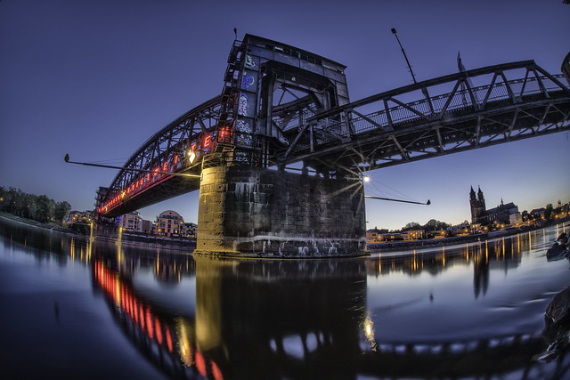 Magdeburg...under the bridge @ blue hour...