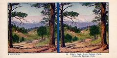 99 Pike's Peak, from Palmer Park, Colorado Springs, Colorado