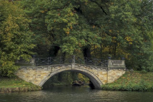 Exploring Worlitz Garden by boat