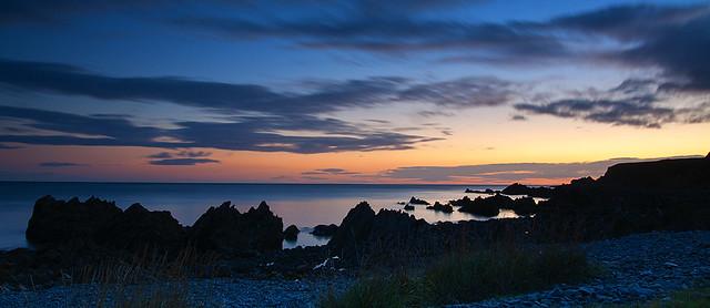Pre Dawn Rock Silhouettes
