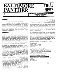 Baltimore Panther Trial News – 1971