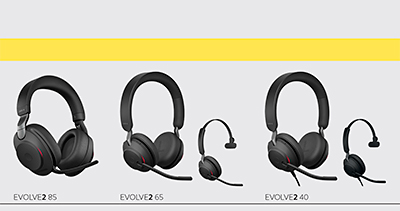 The Evolve2 85 and Evolve2 65 will be available in two colours: Black and Beige. The Evolve2 40 will be available in black.