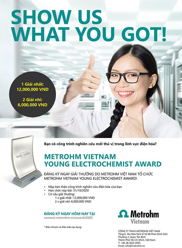 Giải thưởng khuyến khích dành cho những sinh viên hoặc nghiên cứu viên trẻ trong lĩnh vực điện hóa - Metrohm