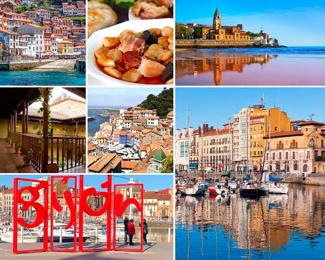 Gijón y Cudillero