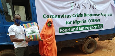 PASDO Coronavirus (Covid-19) Crisis Response Program for Nigeria, CCRPN. Food and Emergency Aid Relief Package distributed to help  cushion hardship and hunger in Nigeria (Africa)