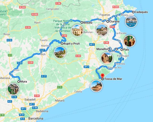 Ruta por los pueblos más bonito de Cataluña
