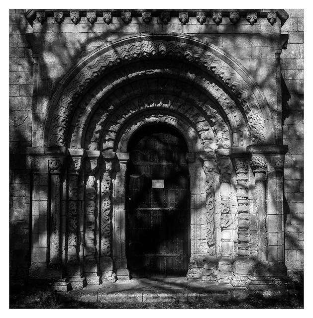 Shdows on the chapel door