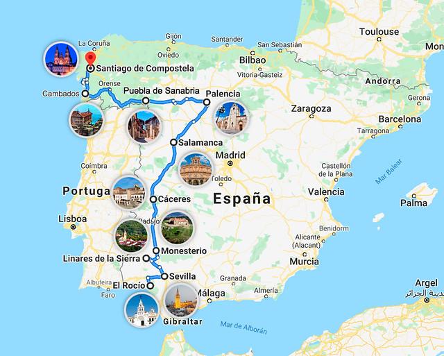 Ruta de la plata por España