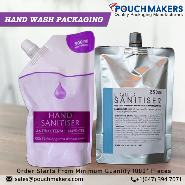 Hand Sanitizer Packaging Pouches