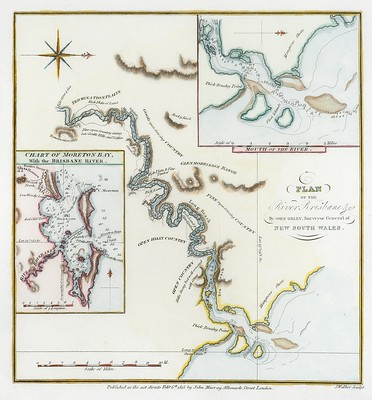 Brisbane River Map by John Oxley