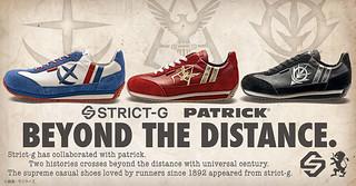 讓雙腿化為紅色彗星!STRICT-G×PATRICK《機動戰士鋼彈》聯名『MARATHON 系列運動鞋』地球連邦軍、吉翁公國軍、紅色彗星款式登場