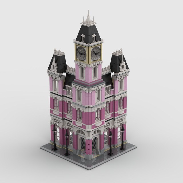 Lego MOC Modular • WIP • The Not-so-Grand Brickapest Hotel