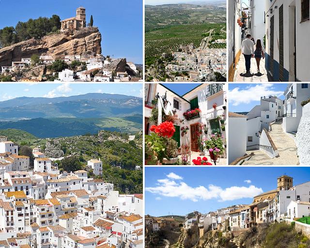 Zuheros, Priego de Córdoba, Alhama de Granada, Comares y Montefrio