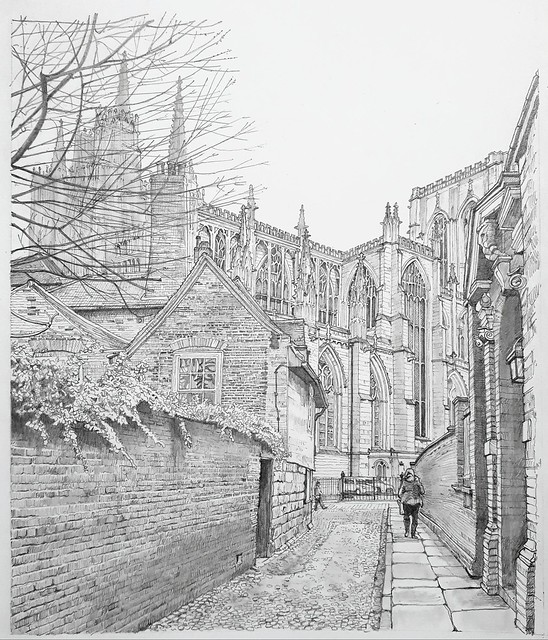 York Minster from Chapter House Street, York