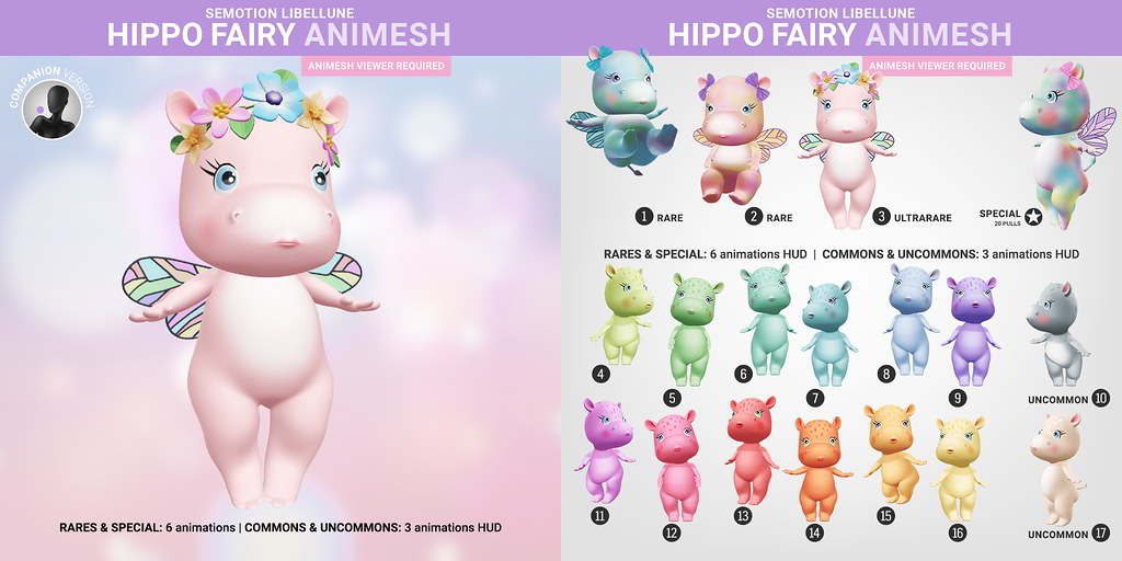 SEmotion Libelline Hippo Fairy Animesh