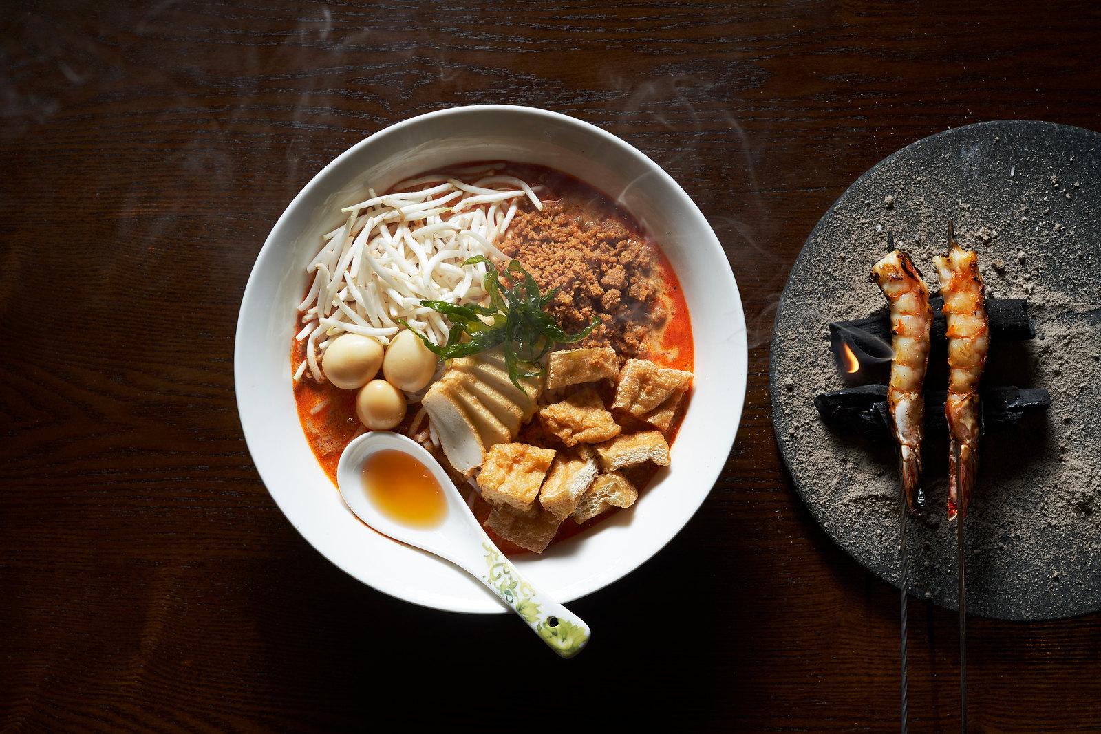 斯坦福德街15号,Alvin Leung - Laksa,烤对虾,熏鹌鹑蛋