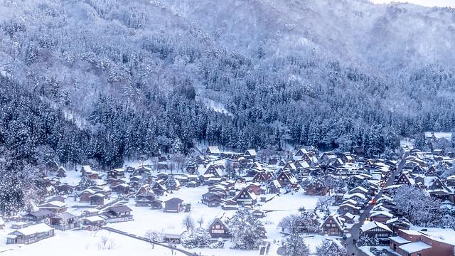 Winter scene of Shirakawa-go Gifu