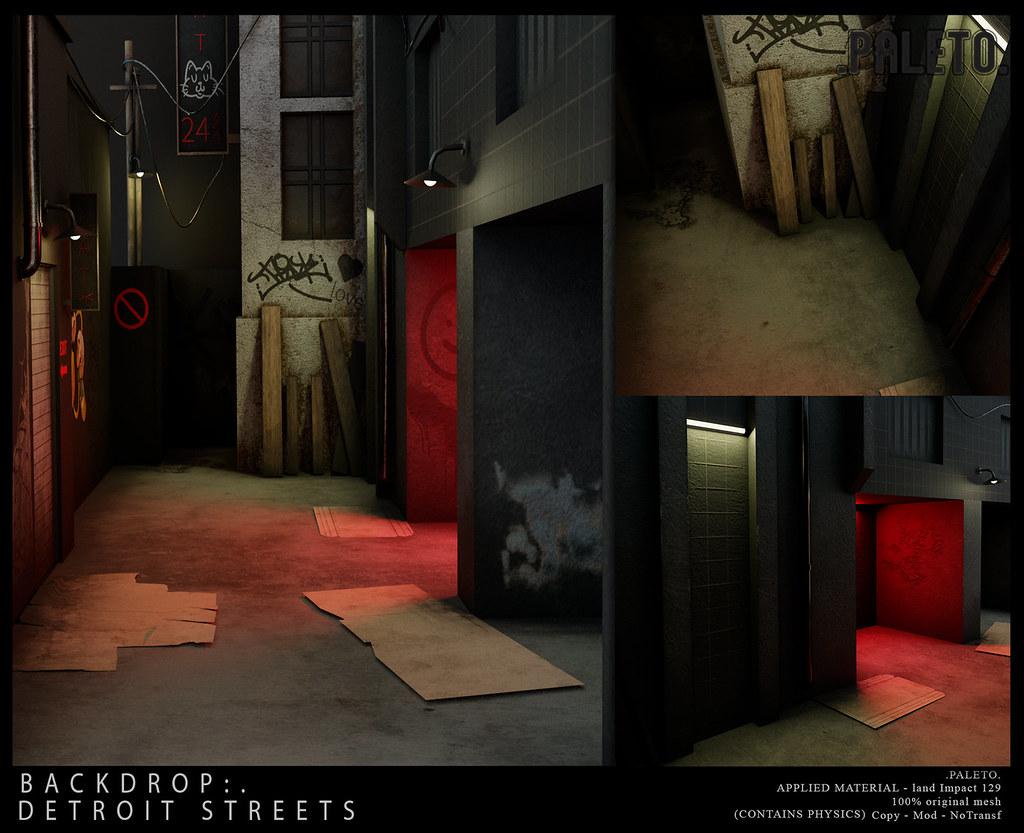 .PALETO. Backdrop:. Detroit Streets