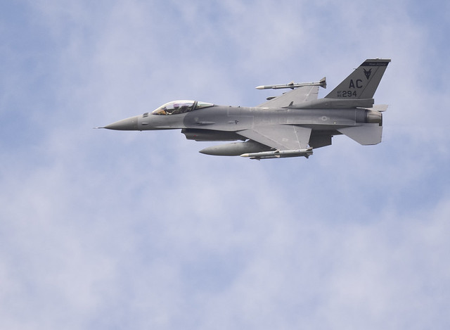 Here is one of the F-16s from the flyover today. I didn't see the Stratotanker but was able to see all three f-16s and got shots of two of them. Great fun and a lovely tribute!   {Explored!! Thank you for the views and faves!!}