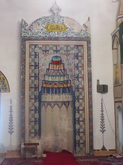 Le mihrab, mosquée de Koski Mehmed pacha, 1617, Mostar, Herzégovine-Neretva, Bosnie-Herzégovine.